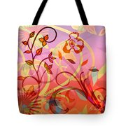 Pink And Purple Flower Medley Tote Bag