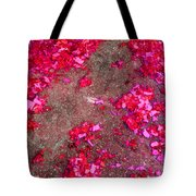 Pink And Red Firecracker Debris Abstract Tote Bag