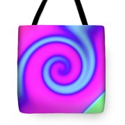 Pink And Turquoise Swirl Abstract Tote Bag