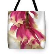 Pink And White Bells Tote Bag