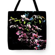 Pink And White Blossoms Tote Bag