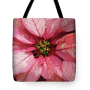 Pink And White Poinsettia Tote Bag
