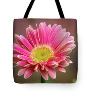 Pink And White Tote Bag