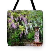 Pink And White Wisterias Tote Bag