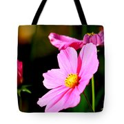 Pink And Yellow Cosmo Tote Bag