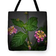 Pink And Yellow Flowers Tote Bag