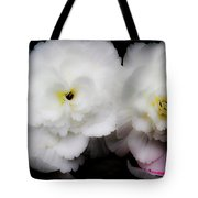Pink And Yellow On White 3 Tote Bag