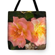 Pink And Yellow Roses Tote Bag
