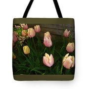 Pink And Yellow Tulips Tote Bag