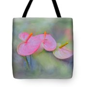 Pink Anthurium Tote Bag