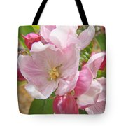Pink Apple Blossoms Art Prints Spring Trees Baslee Troutman Tote Bag