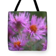 Pink Autumn Flowers Tote Bag