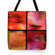 Pink Azalea Project Tetraptych Collage Tote Bag