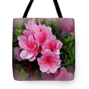 Pink Azaleas Tote Bag by Sandy Keeton