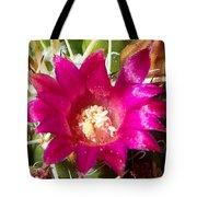 Pink Barrel Cactus Flowers Tote Bag