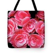 Pink Begonias Tote Bag