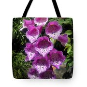 Pink Bell Flowers, Close-up. Foxglove 02 Tote Bag
