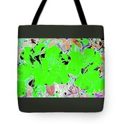 Pink Bevy Of Beauties On A Sunny Day Color Invert Tote Bag