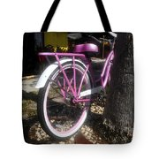 Pink Bicycle Tote Bag