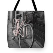 Pink Bicycle In Rome Tote Bag