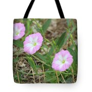 Pink Bindweed Tote Bag