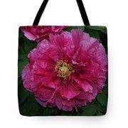 Pink Bloom Peony Tree Tote Bag