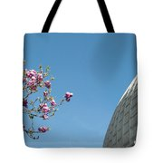 Pink Blossom And Glasshouse Tote Bag