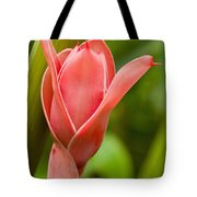 Pink Blossoming Flower Tote Bag