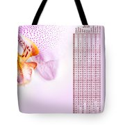 Pink Blotchy Orchid Calendar 2016 Tote Bag