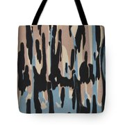 Pink Blue And Brown Drips Tote Bag