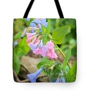 Pink Bluebells Tote Bag