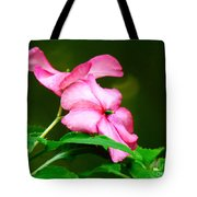 Pink Busy Lizzies Tote Bag
