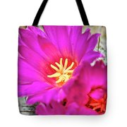 Pink Cacti Flowers Tote Bag