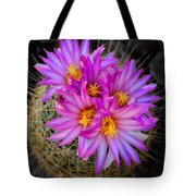 Pink Cactus Flowers Square  Tote Bag