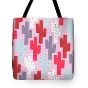 Pink Cactus Pattern Tote Bag