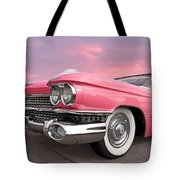 Pink Cadillac Sunset Tote Bag