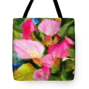 Pink Calla Lilly Tote Bag