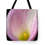 Pink Calla Lily Close Up Tote Bag