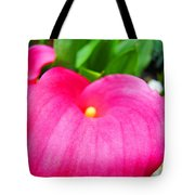 Pink Calla Lily Macro Flower Art Print Lilies Baslee Troutman Tote Bag