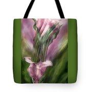 Pink Callas In Calla Vase Tote Bag