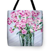 Pink Carnations In A Vase. For Sale Tote Bag
