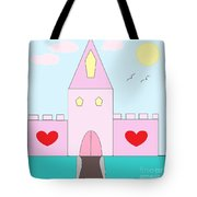 Pink Castle  Tote Bag