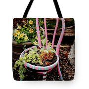 Pink Chair Planter Tote Bag
