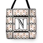 Pink Champagne Deco Monogram  N Tote Bag