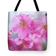 Pink Cherry Blossom Cluster Tote Bag