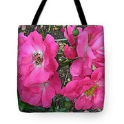 Pink Climbing Roses - Digitally Enhanced Tote Bag