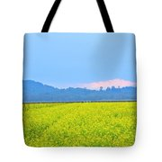 Pink Cloud Over The Mustard Fields Tote Bag