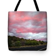 Pink Clouds Over Arizona Tote Bag