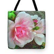 Pink Cluster Of Roses Tote Bag