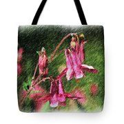 Pink Columbines Tote Bag